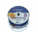 Диск DVD+R Verbatim 8.5 Gb, 8x, Cake Box (50), Double Layer Ink Printable (50/200) 97693