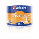 Диск DVD-R Verbatim 4.7 Gb, 16x, Shrink (50), Azo (50/600) 43788