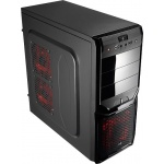 Корпус Aerocool V3X Devil Red Edition Black ATX без БП