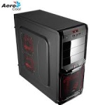 Корпус Aerocool V3X Advanced Devil Red Edition Black ATX без БП