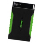 "Внешний жёсткий диск Silicon Power Armor A15 500 Gb Black-Green 2.5"" USB 3.0 (SP500GBPHDA15S3K)"