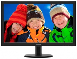 "LED монитор 23.6"" Philips 243V5LHSB/00(01) Black"