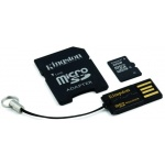 Флеш карта Kingston microSDHC 32 Gb Class10 + 2 адаптера (MBLY10G2/32GB)