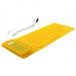 Клавиатура AgeStar AS-HSK810FB Yellow USB/PS/2