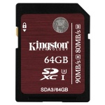 Флеш карта Kingston SDXC 64GB Class 10 UHS-I U3 (SDA3/64GB)