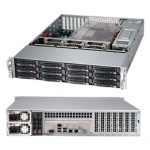 ������ Server Case SuperMicro CSE-826BE16-R1K28LPB Black EE-ATX 1280W HS (24+8+2x4���) 2U RM (��������� �����)
