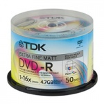 Диск DVD-R TDK 4.7 Gb, 16x, Cake Box (50), Photo Printable (50/200) t19914