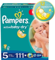 Подгузники PAMPERS Active Baby Junior 11-18 кг., 111 шт. (81446249)