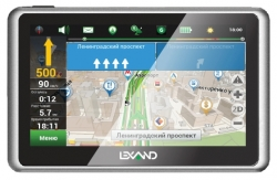 "GPS навигатор Lexand SB5 HD 5"" 800x480 4Gb microSD Bluetooth Black Navitel 9 стран"