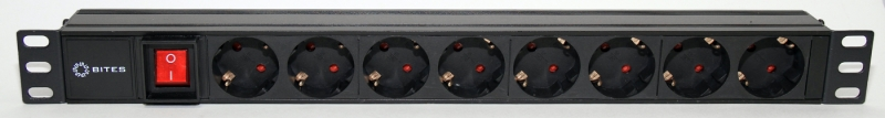 Блок розеток 5bites PDU819A-07 8S / AL / SWITCH / 1U / 19""