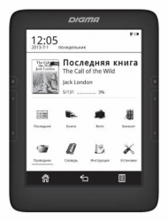 "Электронная книга Digma T646 6"" E-Ink Carta 1024x758 Touch Screen 600MHz 128Mb/4Gb/microSDHC Black"