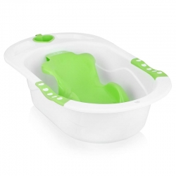 Детская ванна Happy Baby BATH COMFORT Green+горка+стаканчик (34005/ 4690624010620)
