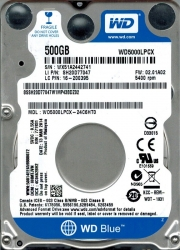 Жёсткий диск WD Scorpio Blue 500Gb (WD5000LPCX) SATA 6Gb/s, 5400 rpm, 8Mb, 7 mm