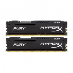 Модуль памяти Kingston HyperX Fury Black DDR4 16ГБ (2x8ГБ) 2400МГц PC4-19200 (HX424C15FBK2/16)
