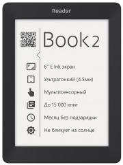 "Электронная книга Reader Book 2 6"" E-ink Pearl 800x600 Touch Screen 1Ghz 256Mb/4Gb Black (RB2-BK-RU)"